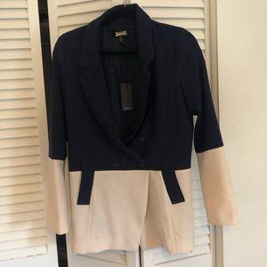 Greylin Navy Cream Colorblock Blazer Jacket